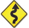 Windy Road Ahead road sign